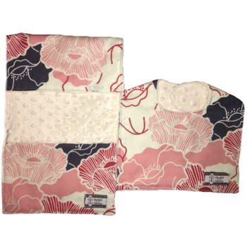 *Bib and Burp Cloth Set - Bloom