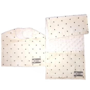 *Bib and Burp Cloth Set - Dalmatian