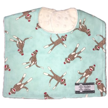 Baby Bib- Monkey Socks