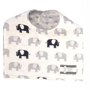 Baby Bib- Elephants