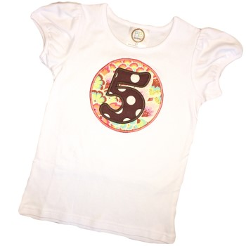 Birthday Tee - Brown Dots on Soul Blossoms