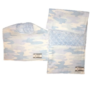 *Bib and Burp Cloth Set - Blue Camo