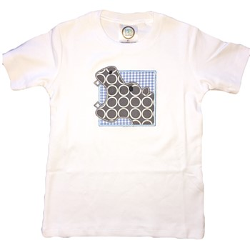 Applique Tee - Hungry Hippo on Blue Gingham