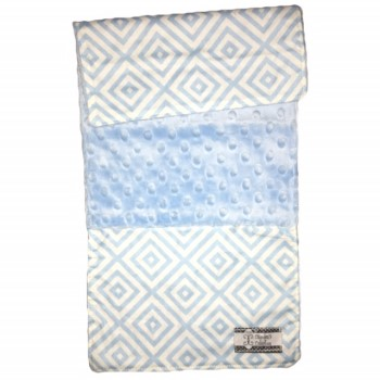 Baby Burp Cloth- Blue Diamonds