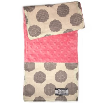 Baby Burp Cloth- Fuzzy Dots