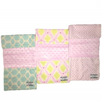 Baby Burp Cloth Set of Three- Diamonds, Taza, Ikat