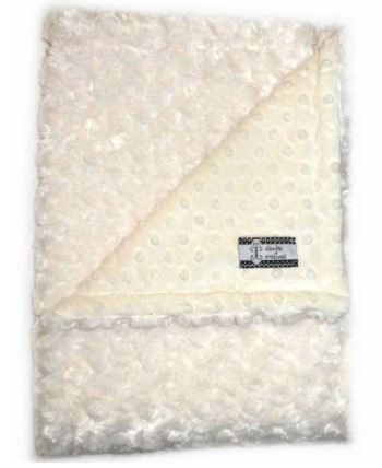 Stroller Blanket - Cream Minky Dot and Cream Minky Swirl