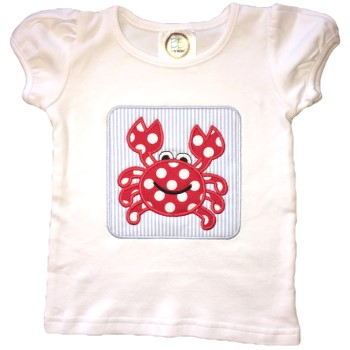 Applique Tee - Miss Crabby