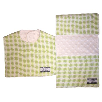 Bib and Burp Cloth Set - Lime Drops