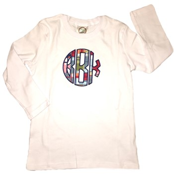 Monogrammed Applique Tee - Madras