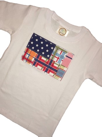 Holiday Tee - Madras American Flag Tee