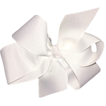 Large Bow- White