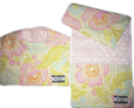 Bib and Burp Cloth Set - Midwest Floral