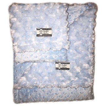 Minky Gift Set- Baby Blue Lovie and Stroller Blanket