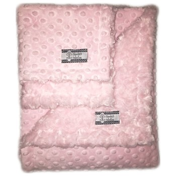 Minky Gift Set- Baby Pink Lovie and Stroller Blanket