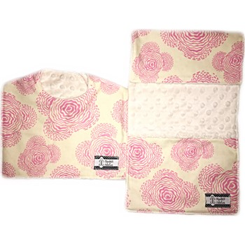 Bib and Burp Cloth Set - Modern Pink