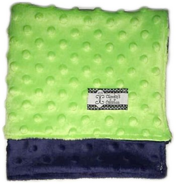 Lovie - Navy and Lime Green Dimple Dot