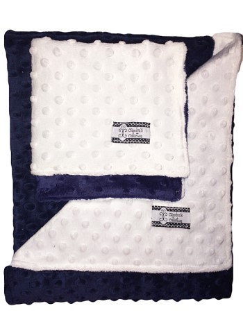 Minky Gift Set- Navy and White Lovie and Stroller Blanket