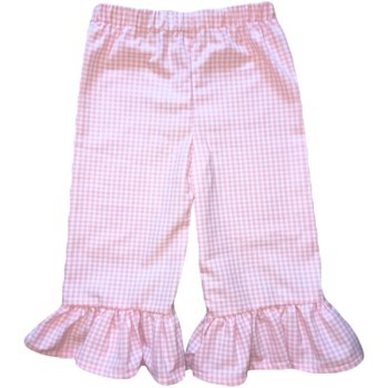 Ruffle Pants- Pink Gingham