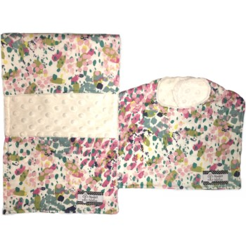 *Bib and Burp Cloth Set - Water Lilies