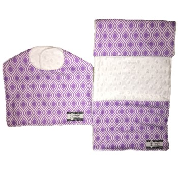 Bib and Burp Cloth Set - Modern Purple