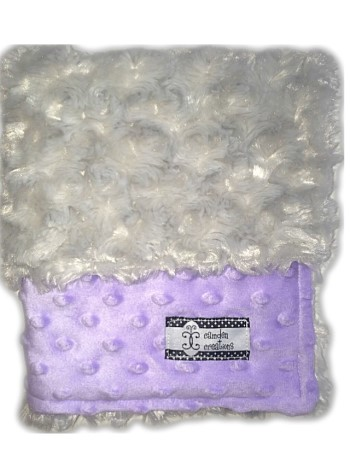 Lovie - Purple Minky Swirl and Gray Minky Dot