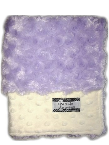 Lovie - Purple Minky Swirl and Cream Minky Dot