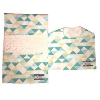 *Bib and Burp Cloth Set - Pyramid Haze