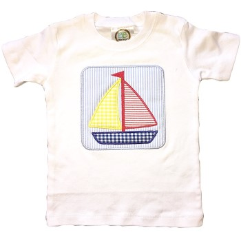 Applique Tee - Sail Away Sailboat