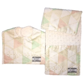 *Bib and Burp Cloth Set - Serenity