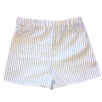 Boy Shorts- Baby Blue, Navy Gray, or Tan Seersucker