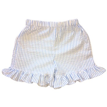 Ruffle Shorts- Pink or Blue Seersucker/ Pink or Blue Gingham