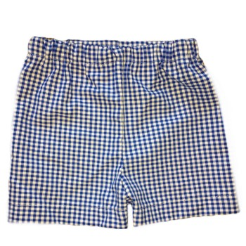 Boy Shorts- Baby Blue, Navy, Turquoise or Brown Gingham