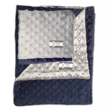 Minky Gift Set- Navy and Gray Lovie and Stroller Blanket